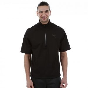 Puma Golf Short Sleeve Rain Popover Golfpaita Musta