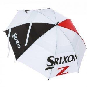 Srixon Double Canopy Golfsateenvarjo Musta / Punainen / Valkoinen
